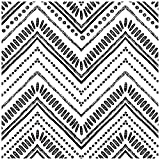 HaokHome 96022-1 Modern Circle Oval Stripe Peel and Stick Wallpaper Black White Vinyl Self Adhesive Decorative 17.7in x 9.8ft