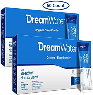 Special 60 Day Supply of Dream Water Sleep Powder, Snoozeberry, Best Natural Sleep Aid - Melatonin, GABA, 5-HTP - Top Rated - Non-Habit Forming