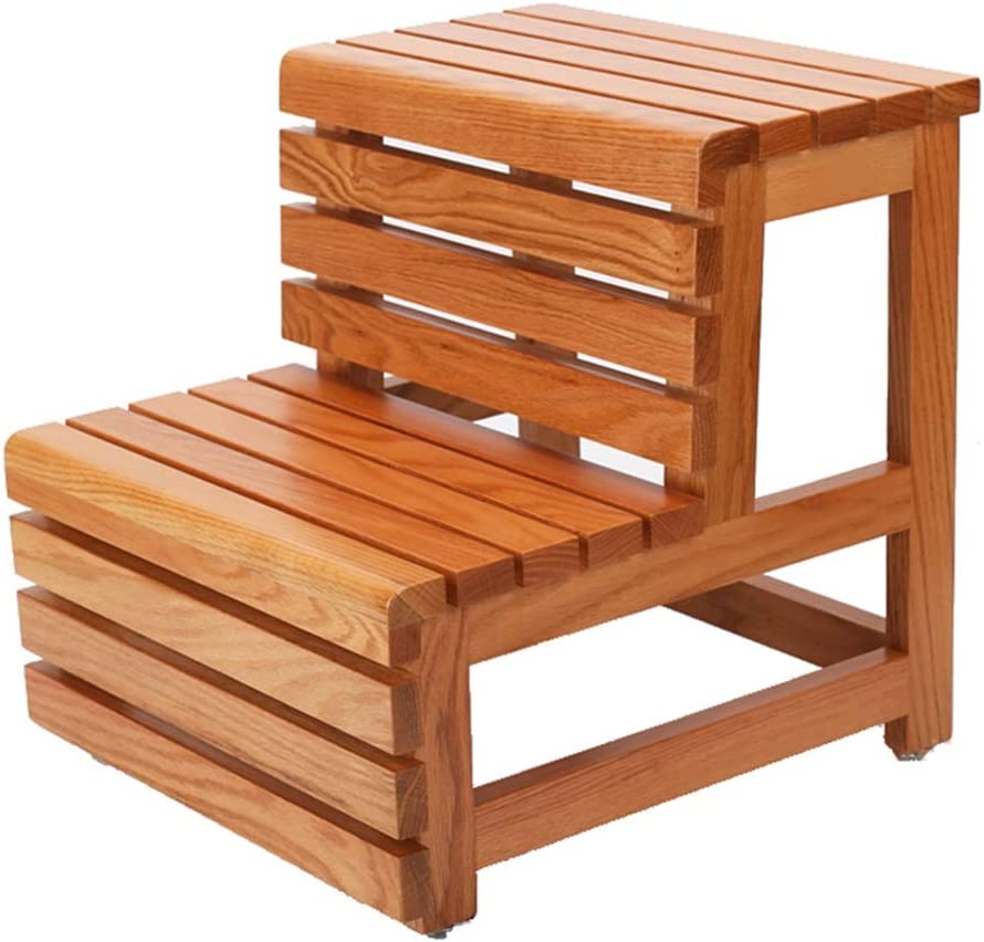 XingKunBMshop Ladder Stool Solid E Insulation A surprise price is realized Wood Multifunction Oakland Mall