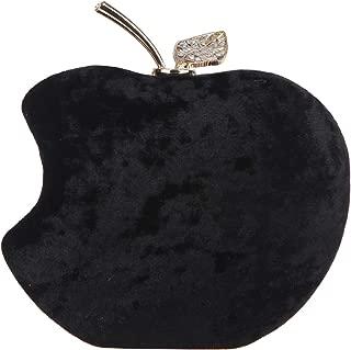 Fawziya Rhinestones Velvet Clutch Apple Shape Evening Bags For Women Formal