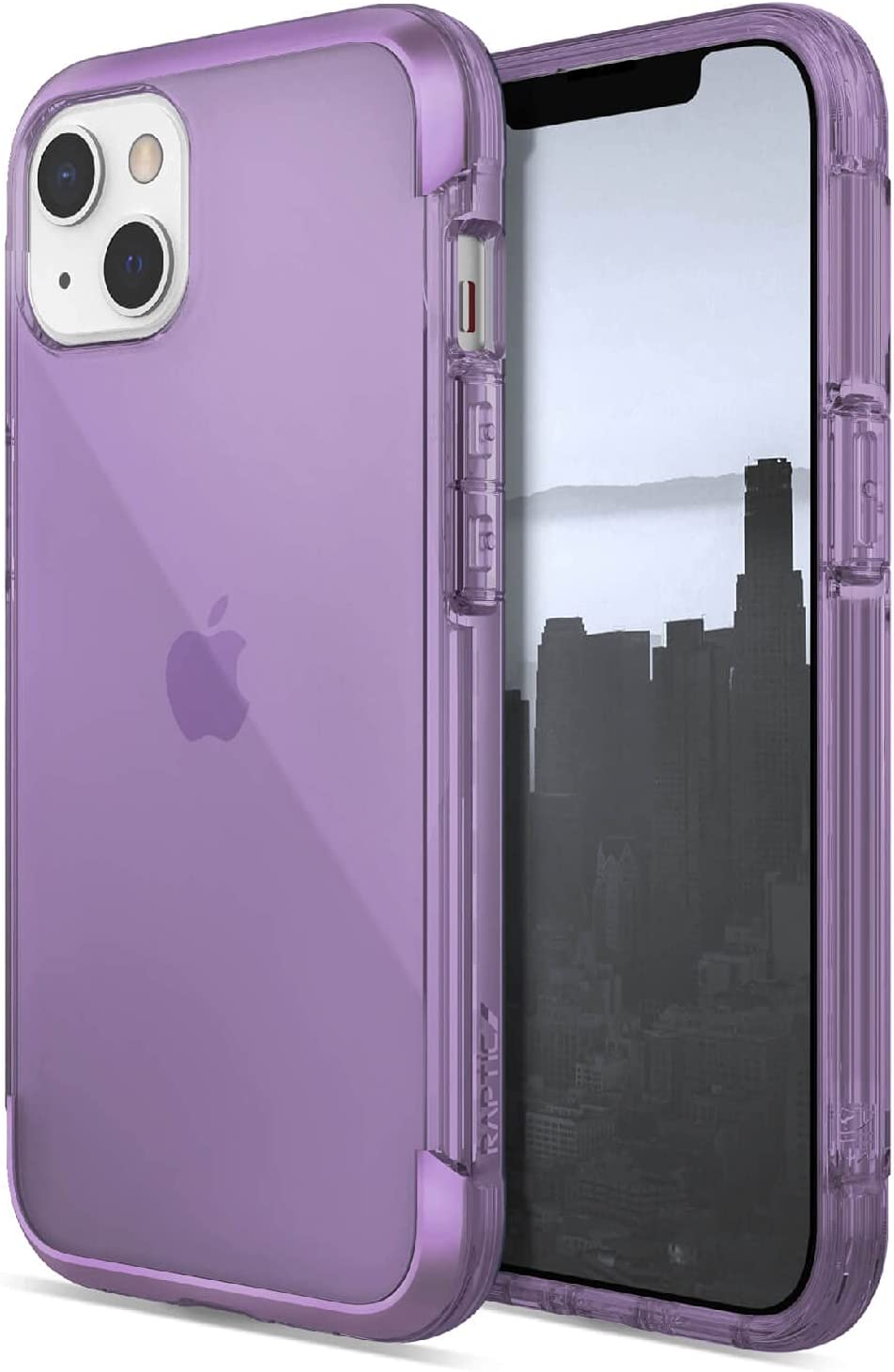 Raptic Air Case Compatible with iPhone 13 Case, Scratch Resistant, Aluminum Metal Bumper, Wireless Charging, 13ft Drop Protection, Fits iPhone 13, Purple