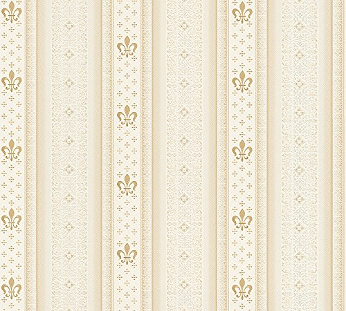 A.S. Création Vliestapete Hermitage 10 Tapete klassisch neo-barock 10,05 m x 0,53 m beige creme Made in Germany 335424 33542-4