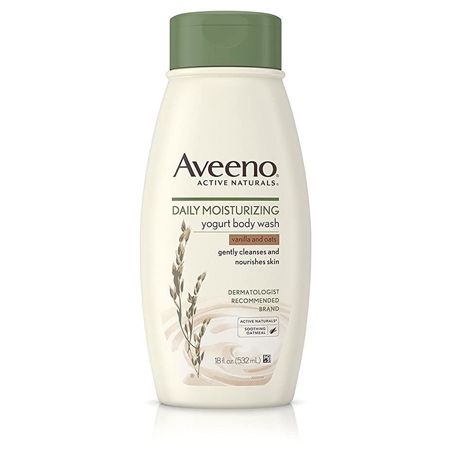 Aveeno Vanilla and Oats Daily Moisturizing Body Yogurt Wash, 18 Ounce - 12 per case.
