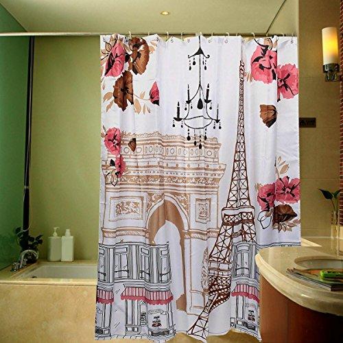 GYMNLJY Polyester Duschvorhang Water-Repellent und antibakterielle Bad Dusche Vorhang Badezimmerdekoration abgeschnitten hängenden Vorhang 180 * 180cm , 180*180