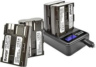 Bonadget BP-511/BP-511a Battery Charger Set, 2200mAh 2-Pack Replacement Battery with LCD Dual Charger Compatible with Canon EOS 50D 40D 30D 20Da 20D 10D 5D 300D Digital Rebel D30 D60 PowerShot G6 G5