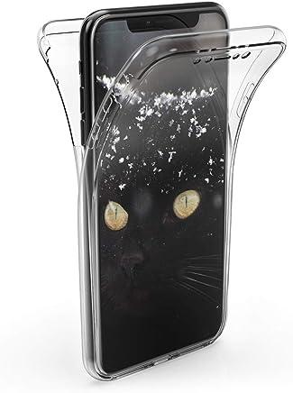 79192b29f51 kwmobile Funda para Apple iPhone XS MAX - Carcasa Completa [360] de  [Silicona] para m?vil - Cover Doble [Transparente]