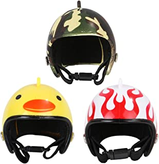 Balacoo 3pcs Chicken Helmets Pet Safety Helmets Bird Hats Headwears Sun Rain Protection Helmets Headgears Funny Pet Costum...