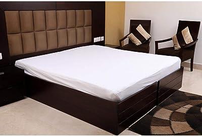 "Sanjeev Textiles 100% Waterproof & Dust Proof Terry Cotton Mattress Protector (60"" X 78"" / 5' X 6.5')"