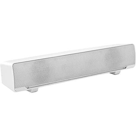 Esenlong Ultra- Slim TV Sound Bar| Works with 4K & HD TVs| Wireless Subwoofer| Includes HDMI & Optical Cables| Bluetooth Enabled, White