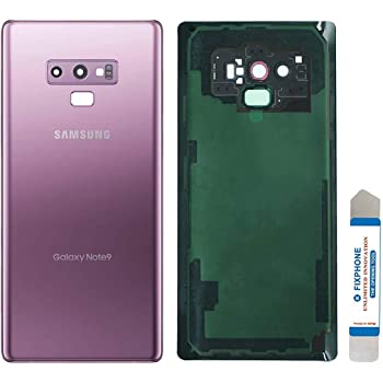 Any Carrier Lens and Adhesive Replacement for Samsung Galaxy Note 8 Black CELL4LESS Compatible Back Glass Door Cover Housing with Installed Camera Frame N950