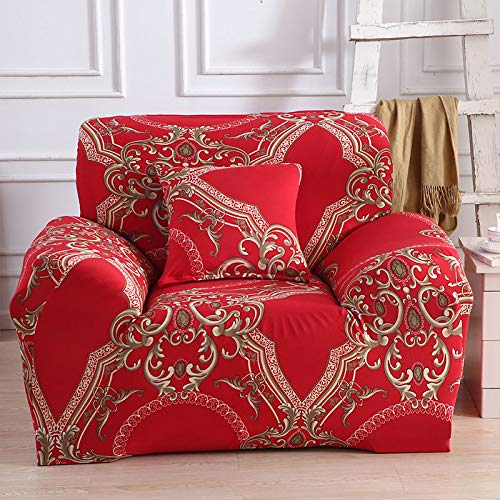 WXQY Fundas elásticas Fundas elásticas para sofá, protección para Mascotas, Funda para sofá, Esquina en Forma de L, Funda para sofá con Todo Incluido, A13, 2 plazas