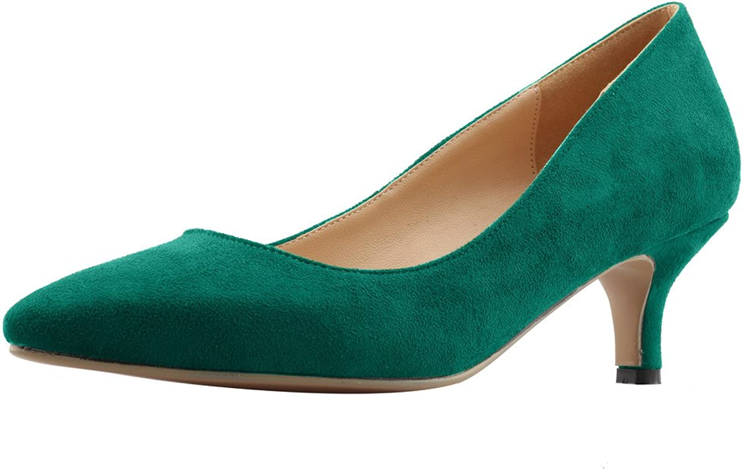 Calaier Womens Cahalfway Pointed-Toe 5.5CM Stiletto Slip-on Pumps shoes