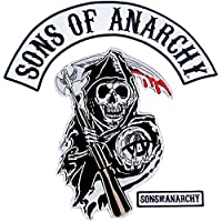 Sons of Anarchy Text and Arched Reaper Logo Patch Set Men's サン オブ アナーキー ロゴ パッチ セット (メンズ) [並行輸入品]