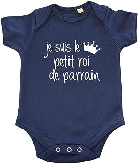 bd285ac7a3ab1 DSTNY Body bébé garçon Je suis Le Petit Roi de Parrain