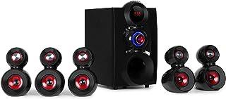 auna X-Gaming 5.1 luidsprekersysteem (190 watt RMS, OneSide subwoofer, gaming-luidspreker, Balanced Sound Concept, Bluetoo...