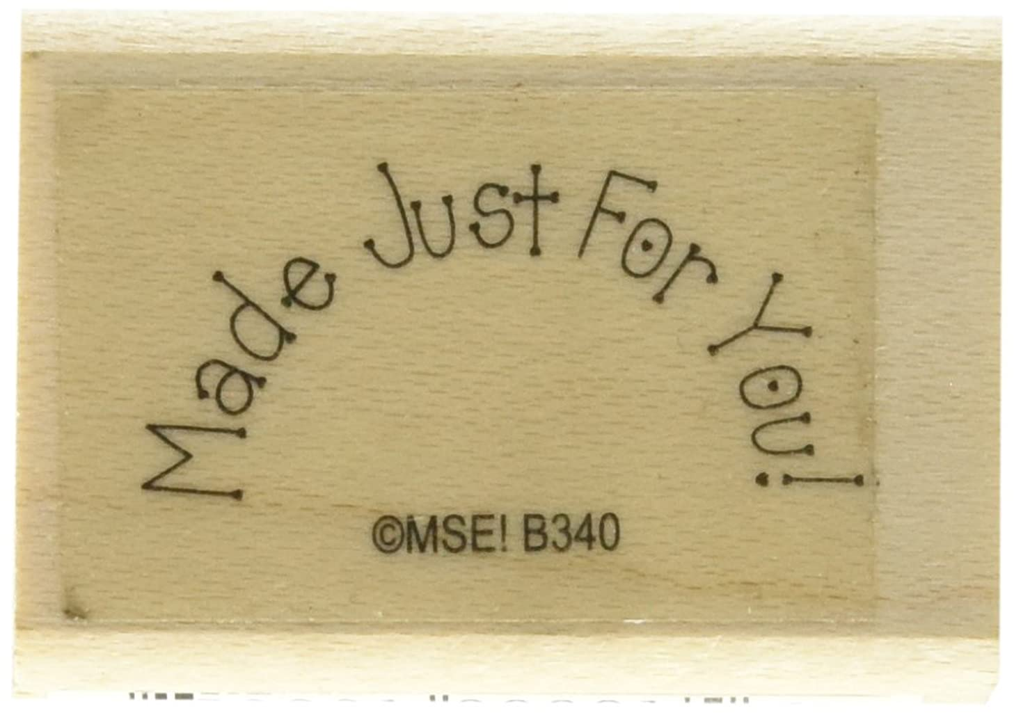 MSE My Sentiments Exactly Mounted Stamp, 1