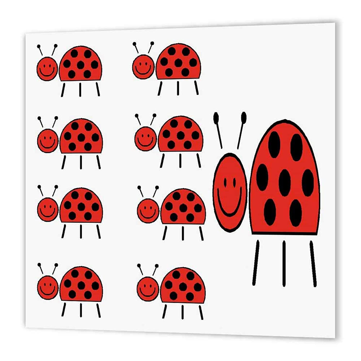 3dRose ht_19988_1 Ladybug-Iron on Heat Transfer Paper for White Material, 8 by 8-Inch