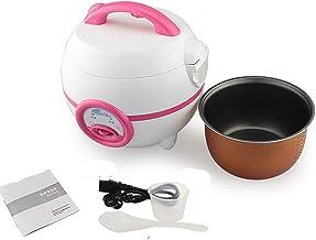 Rijstkoker, huishoudelijke mini-rijstkoker, koken met één knop en automatische warmtebehoud (1.2L-200W), voor 1-2 personen