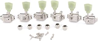 Musiclily Pro 3x3 Vintage Guitar Tuners Tuning Keys Pegs Machine Heads for Gibson Epiphone Les Paul Electric Guitar,Nickel with Keystone Button