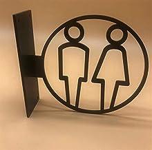 Pangocho Jinchao-huisnummerbord, mannen vrouwen badkamer toilet sign deurplaat tips creatief signage bord acryl 3D zijmont...