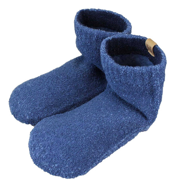 SocksDEPO 靴下 てぶくろ屋さんがつくった「モコモコ先丸ソックス ゆったり派シングル ショートタイプ] 裏起毛 日本製