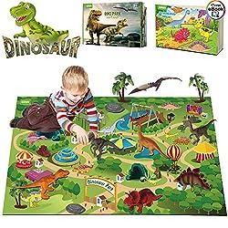 5. EIAIA Dinosaur Activity Play Mat with 9 Realistic Dinosaur Figures