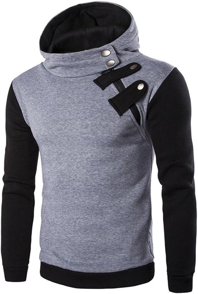Men's Long Sleeve Hoodie Hooded Sweatshirt Tops Jacket Coat Outwear