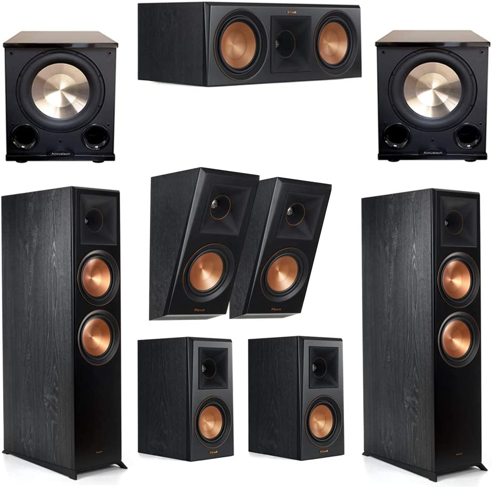 Klipsch 5.2.2 Manufacturer 2021 new direct delivery Ebony System - RP-8060FA 2 1 RP-500M RP-600C