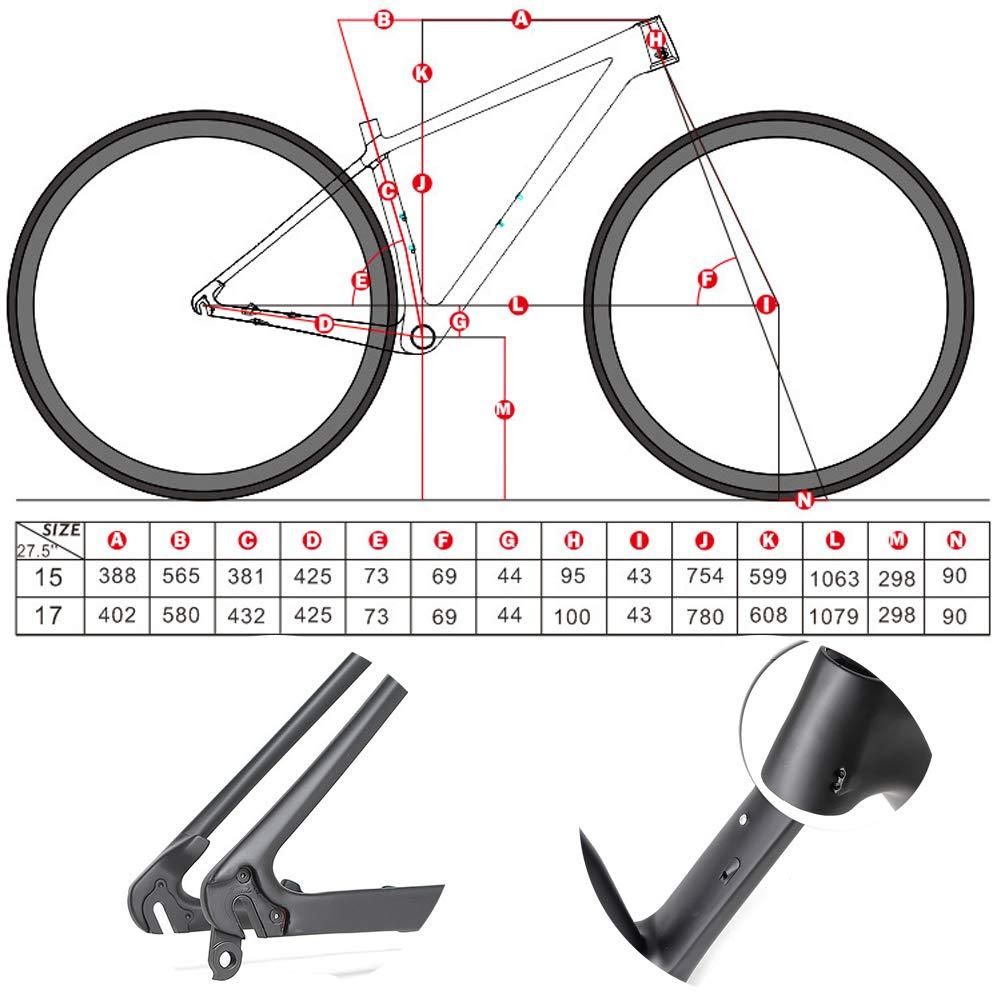 DRAKE18 Marco de Fibra de Carbono, 27,5 Pulgadas Bicicleta de montaña Campo a través XC Todos los componentes de la Bicicleta Ciclo al Aire Libre para Adultos Negro: Amazon.es: Hogar