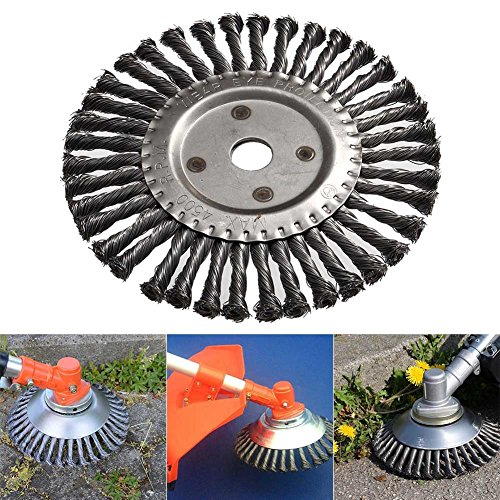 Koisy Runde Twist Wire Wheel Bürste 200mm Kegel geknotete Weed Brushes Brushcutter