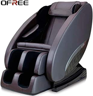 OFREE Massage Chair Household Healthcare 3D Zero Gravity Full Body Relax Massage Chair Neck Shoulder Back Butt Foot Massage Chair(Brown)