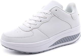 Vorgelen Zapatillas de Deportivos para Mujer Zapatos de Cuña Aptitud Sneakers Gimnasio Zapatos de Baile para Caminar con P...