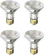 Xtricity PAR20 Halogen Flood Light 50 Watt, Dimmable, 700 Lumens, E26 Medium Base, 130 Volt, 2,700K – Soft White (Pack of 4)