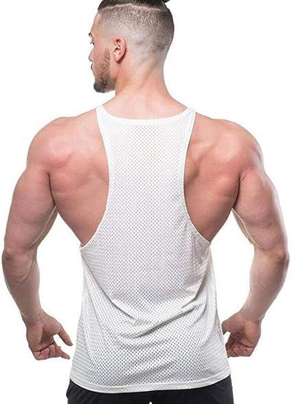CAOQAO- Chaleco de los Hombres para el músculo Chico Fuerte ...
