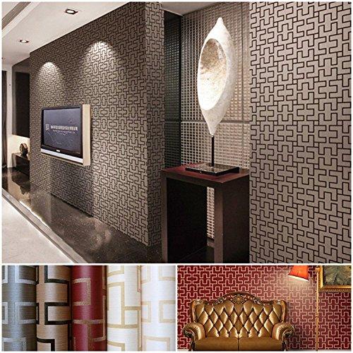 Wapea in Chinese stijl plaid gaestgiveriet hotel gang koffie klassiek behang