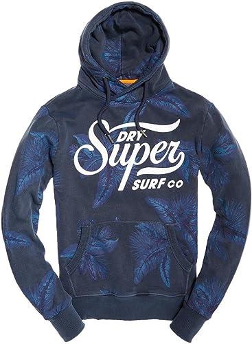 Superdry - Sweat-Shirt à Capuche - Homme Bleu Washed Diesel