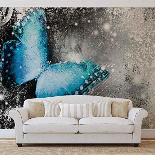 Schmetterlinge - Forwall - Fototapete - Tapete - Fotomural - Mural Wandbild - (574WM) - XXXL - 416cm x 254cm - VLIES (EasyInstall) - 4 Pieces