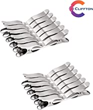 Cliffton Stainless Steel Multipurpose cloth clips (Set of 24)