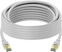 Cat 8 Ethernet Cable 25 ft, High Speed 26AWG Cat8 LAN...