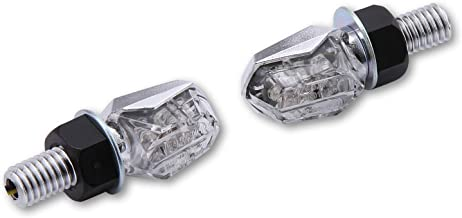 Shin YO Tiny - Intermitente LED, Cromado y Cristal Transparente