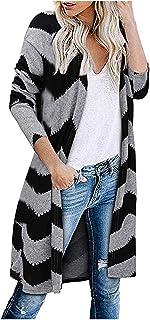 iHENGH Damen Herbst Winter Bequem Lässig Mode Frauen Langarm Leopard Print Mode Mantel Blusen T Shirt Tank Tops