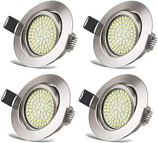 Spots LED Interieur Plafonnier Encastrable Orientable Rond 3.5W Ultraslim Blanc Froid 6000K 400LM 230V IP20 pour Plafond d...