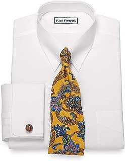 Paul Fredrick Men's Egyptian Cotton Button Tab Collar Dress Shirt