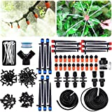 Kalolary 158PCS 226FT Drip Irrigation Kits Accessories, Greenhouse Micro Plant Watering System Adjustable Home Garden Patio Misting Micro Flow Drip Irrigation Misting Cooling System