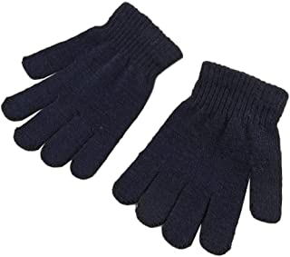 COODIO Unisex Kids Winter Warm Stretch Gloves Solid Color Knitting All-match Fashion Outdoor Sports Gloves Fashion Jewelry