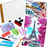 Diamond Painting Kit with 5D Diamond Painting (16'x20'Eiffel Tower) | Includes A4 LED Light Pad, Roller, Diamonds and more | DIY Diamond art accessories and tool | Great for Full Drill & Partial Drill