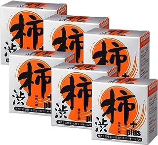 【柿渋石鹸Plus 6個セット】 全身用高級化粧石鹸 柿渋+プラチナ強力消臭 緑茶+ヒバ油で抗菌