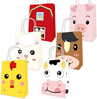 Farm Animal Bags Barnyard Party Favor Birthday Gift Treat Goody Bag 18 Pack for Halloween Decoration