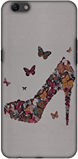AMZER Slim Fit Handcrafted Designer Printed Hard Shell Case Back Cover for Oppo F3 Plus - Butterfly High Heels