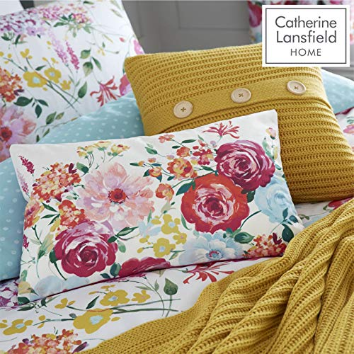 Catherine Lansfield Salisbury - Cojín (30 x 50 cm), diseño de Flores